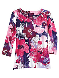 Alfred Dunner® Family Jewels Floral Print Tee