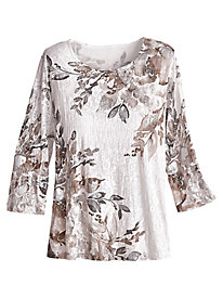 Eskimo Kiss Floral Top By Alfred Dunner®