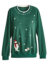 Alfred Dunner® Classic Holiday Fleece Tops
