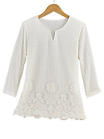 Lakeshore Drive Lace Top By Alfred Dunner®