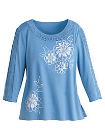 Bonita Springs Floral Lace Top By Alfred Dunner®