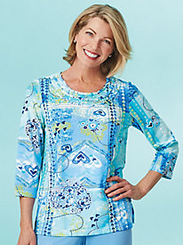 Bonita Springs Patch Heart Top By Alfred Dunner®