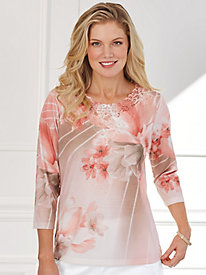 La Dolce Vita Floral Top By Alfred Dunner®