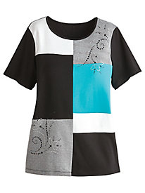 Play Date Colorblock Top By Alfred Dunner®