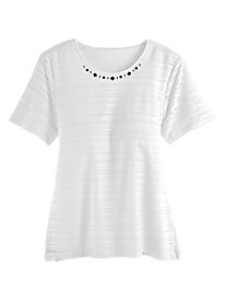 Play Date Textured Top By Alfred Dunner®