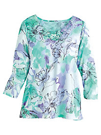 Roman Holiday Floral Top By Alfred Dunner®