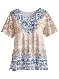 Blues Traveler Print Top By Alfred Dunner®