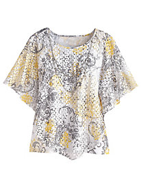 Charleston Lace Overlay Top By Alfred Dunner®