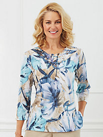 Tropical Print Top By Alfred Dunner®
