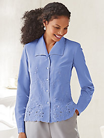 Koret® Embroidered Blouse