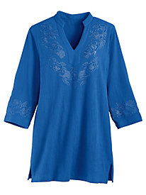 Stretch Knit Gauze Pullover Tunic By Koret®
