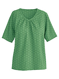 Eyelet Peasant Top By Koret®