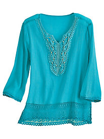 Lace and Bead Top