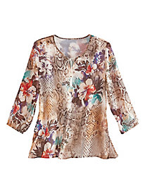 Santa Fe Floral Tunic By Alfred Dunner®