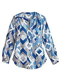 Crescent City Print Tunic By Alfred Dunner®