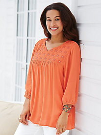 Sparkling Crinkle Tunic