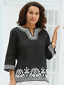 Lace It Up Scroll Tunic By Alfred Dunner®