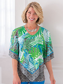 Geo-Graphic Style Georgette Print Top By Ruby Rd.