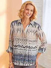 Cascade Illusion Woven Top By Gloria Vanderbilt®