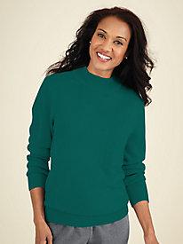 Cashmere-Soft Mockneck Sweater