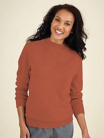 Cashmere-Soft Mockneck Sweater