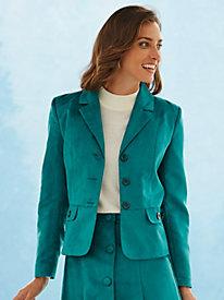 Suede-Cloth Jacket