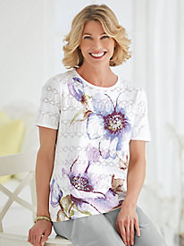 Lavender Fields Sweater By Alfred Dunner®