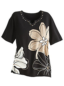 Madison Park Floral Sweater By Alfred Dunner®