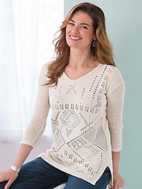 Southwest Studded Sweater
