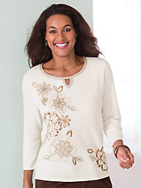 Embellished Sweater By Alfred Dunner®