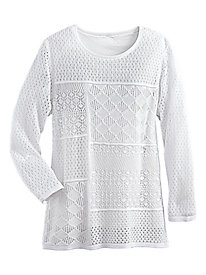 Patch Pointelle Sweater By Alfred Dunner®