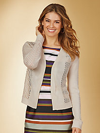 Pointelle Sweater Shrug