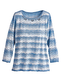 Silver Belles Textured Sweater By Alfred Dunner®