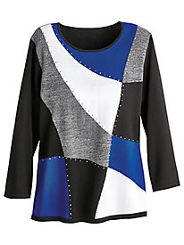 Alfred Dunner® High Roller Colorblock Sweater