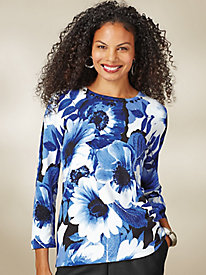 Alfred Dunner® High Roller Floral Sweater