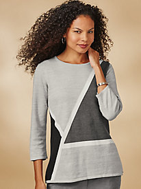 Classic Diagonal Sweater By Alfred Dunner®