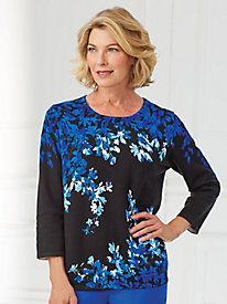 Upper East Side Floral Sweater By Alfred Dunner®