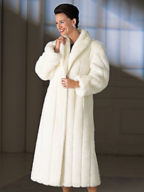 Vicki Wayne® Faux Mink Long Coat