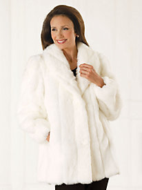 Faux Mink Pants Coat by Mark Reed®