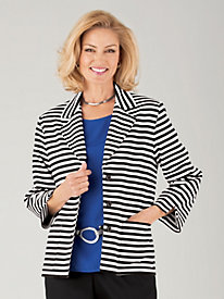French Rivera Striped Jacket by Alfred Dunner