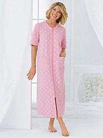 Zip-Front Long Robe