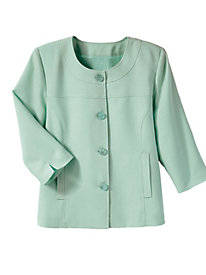 Textured Jacket with 3/4-Sleeves by Judy Bond