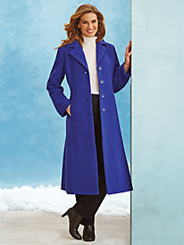 Wool-Blend Full Length Coat by Mark Reed