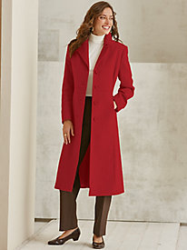 Wool-Blend Full Length Coat by Mark Reed