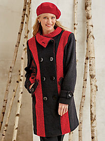 Boiled Wool Coat by Mark Reed