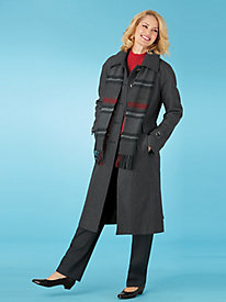 London Fog® Full-Length Coat With Scarf