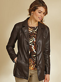 Super Soft Faux Leather Blazer