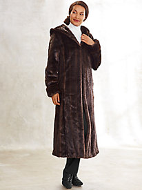 Full-Length Faux Fur Coat By Regalia®