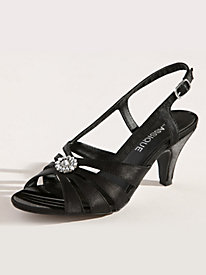 Gianna Style Sling Satin Sandals by Classique�
