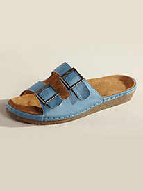 Double Buckle Comfort Slides by Valley Lane�
